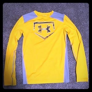 Under Armour yellow and grey T-Shirt